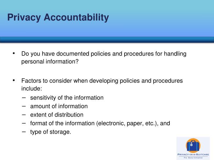 Privacy Accountability