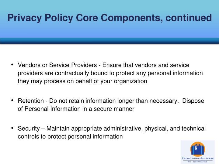 Privacy Policy Core