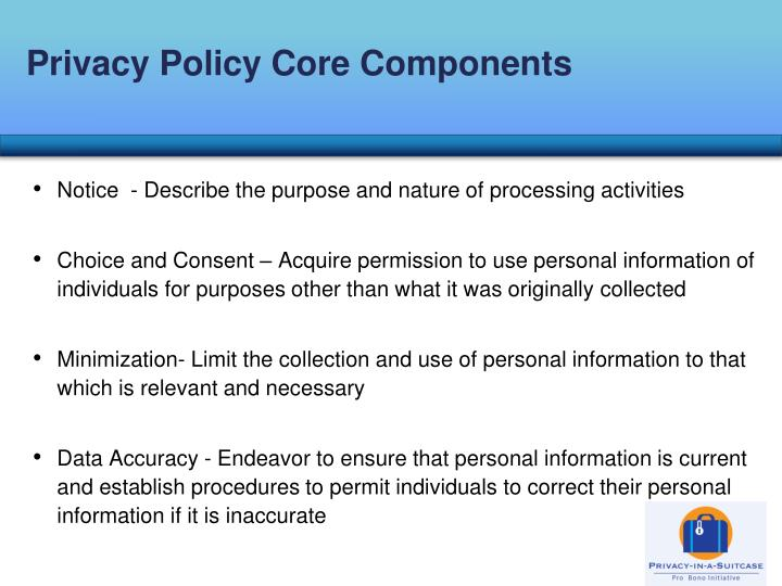 Privacy Policy Core Components