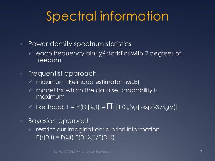Spectral information