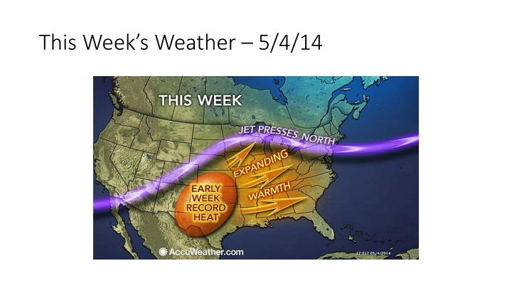 This Week's Weather – 5/4/14
