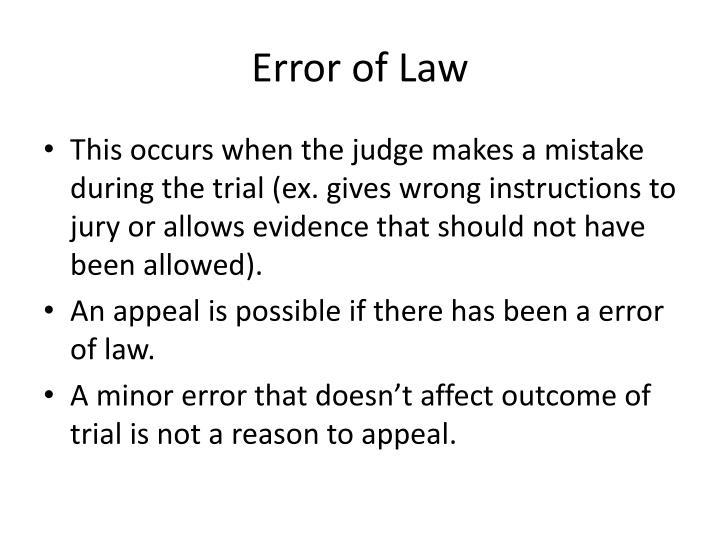 Error of Law