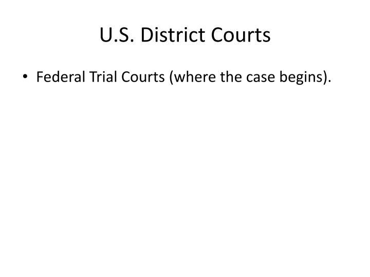 U.S. District Courts