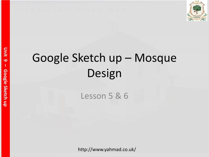 google sketch up mosque design
