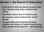 brown v the board of education