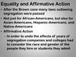 equality and affirmative action