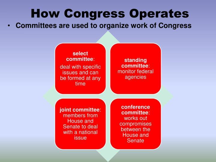 How Congress Operates