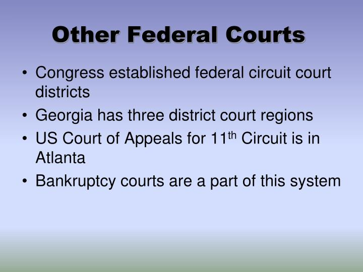 Other Federal Courts