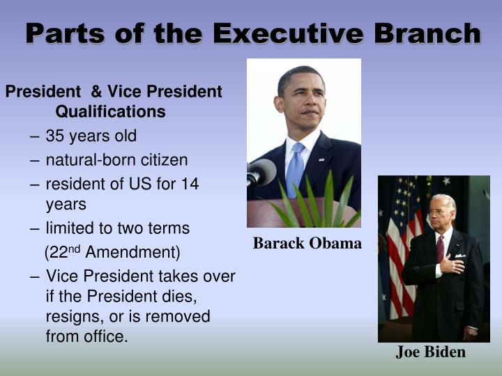 Parts of the Executive Branch