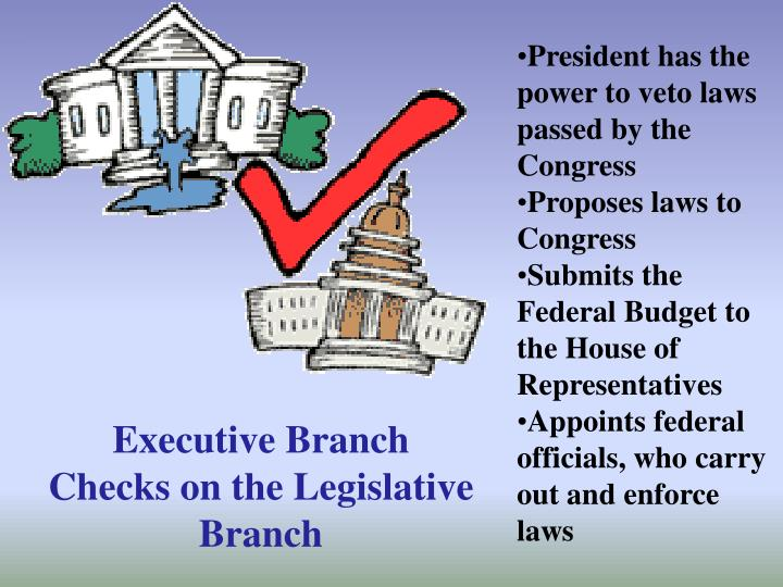 President has the power to veto laws passed by the Congress