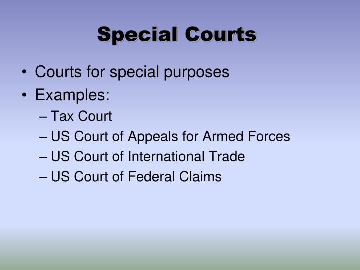 Special Courts