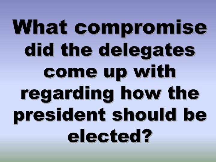 What compromise