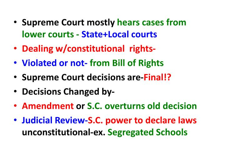 Supreme Court mostly