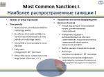 most common sanctions i i