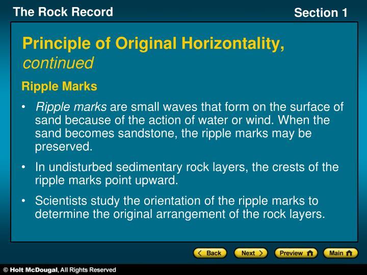 Principle of Original Horizontality,