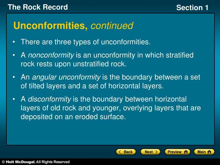 Unconformities,