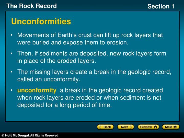 Unconformities