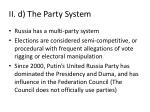 ii d the party system