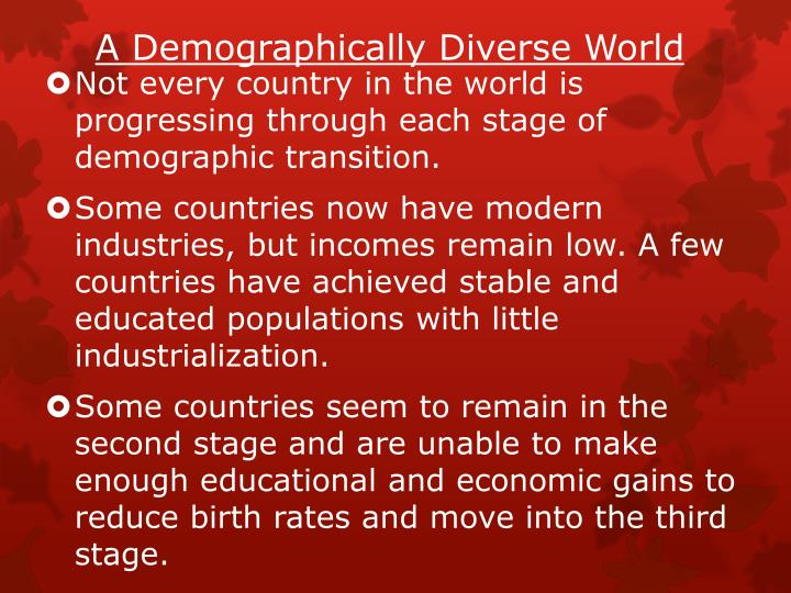 A Demographically Diverse World