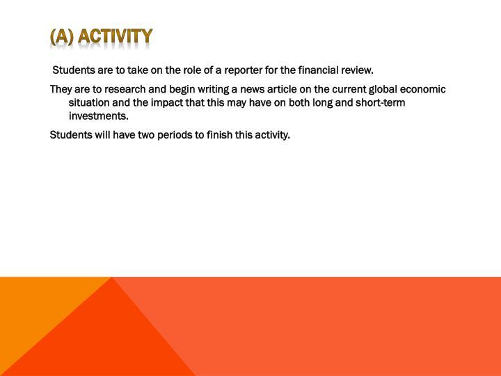 (a) Activity