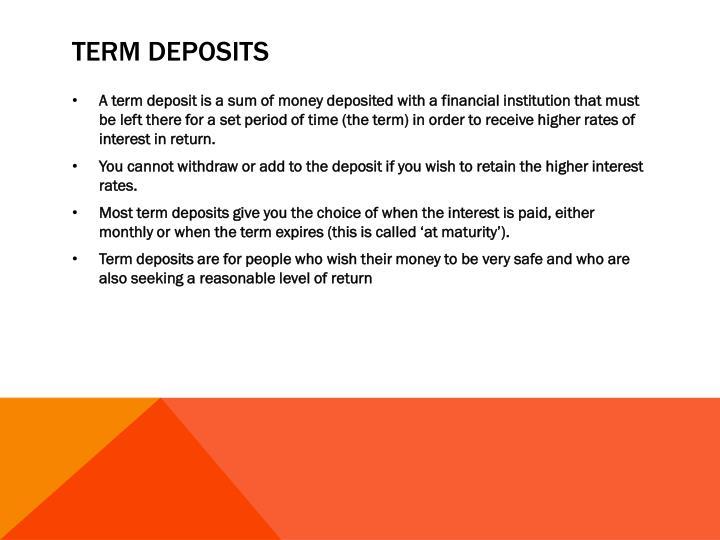 Term deposits