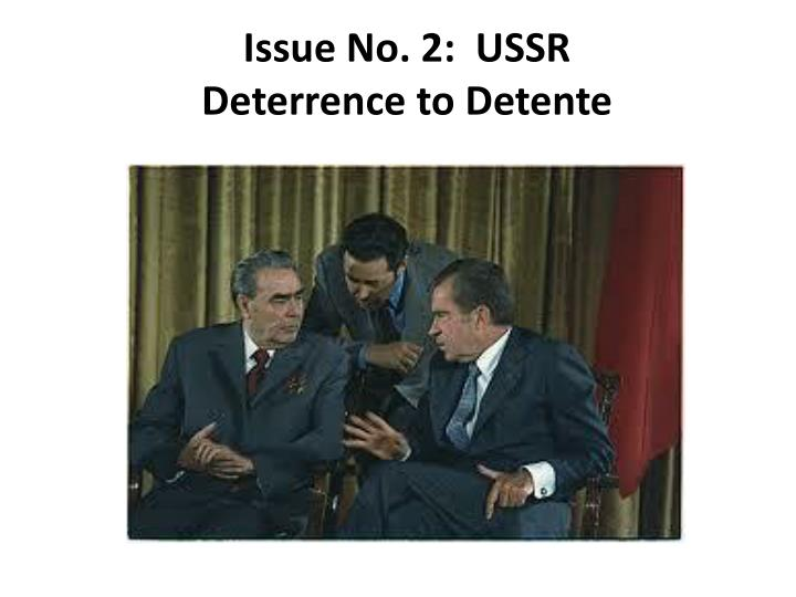 Issue No. 2:  USSR