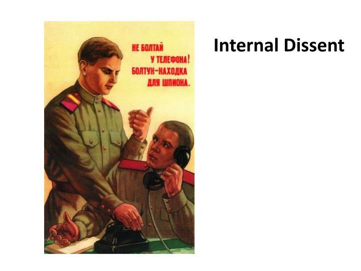 Internal Dissent