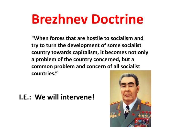 Brezhnev Doctrine