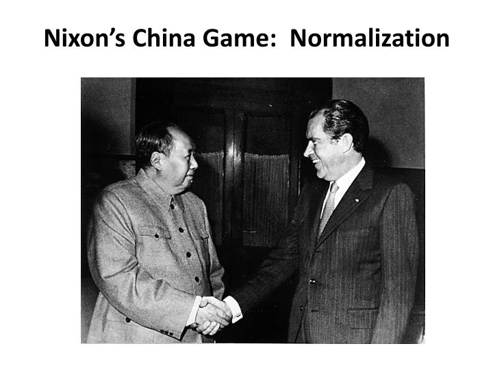 Nixon's China Game:  Normalization