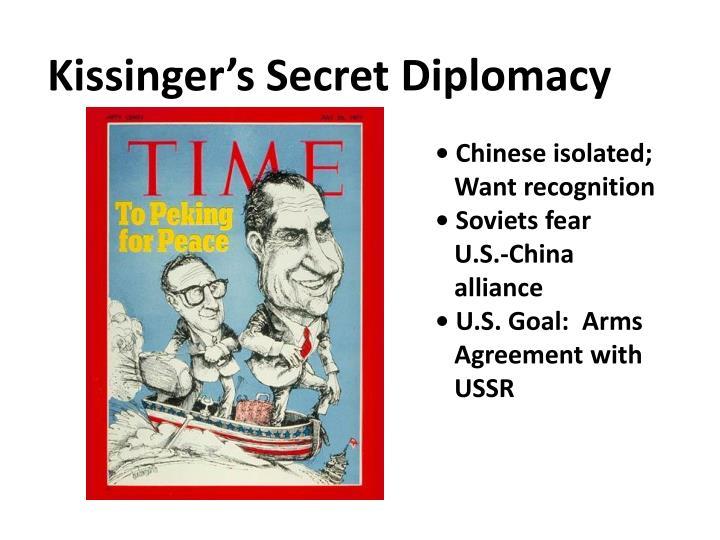 Kissinger's Secret Diplomacy