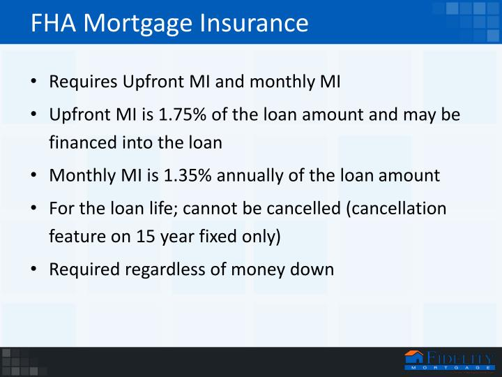 features private mortgage insurance