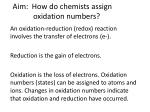 aim how do chemists assign oxidation numbers