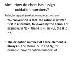 aim how do chemists assign oxidation numbers1
