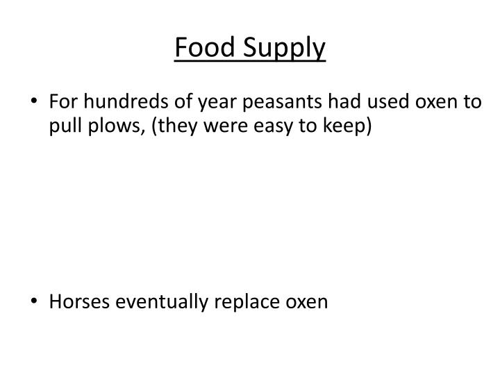 Food Supply