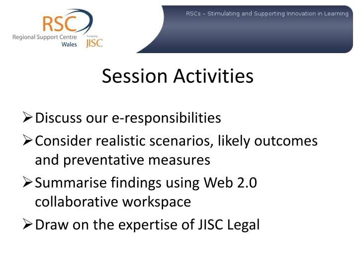 Session activities