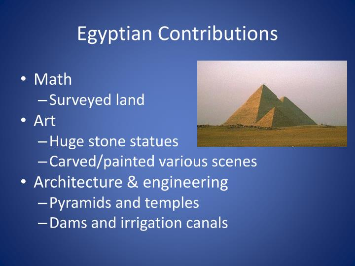 Egyptian Contributions