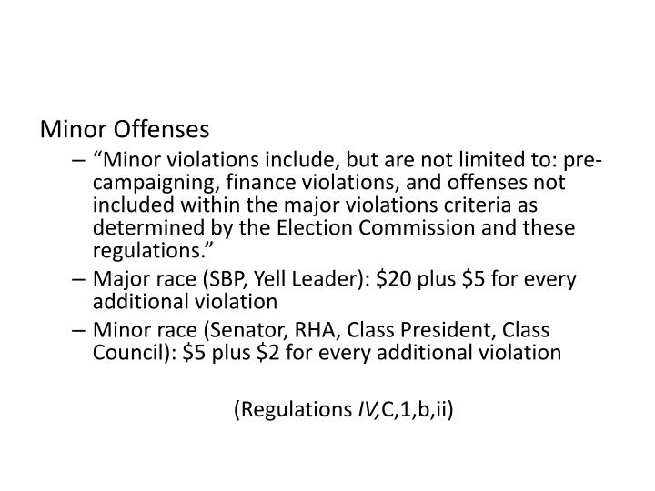 Minor Offenses