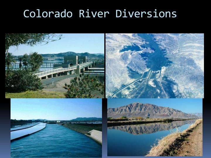 Colorado River Diversions
