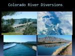 colorado river diversions