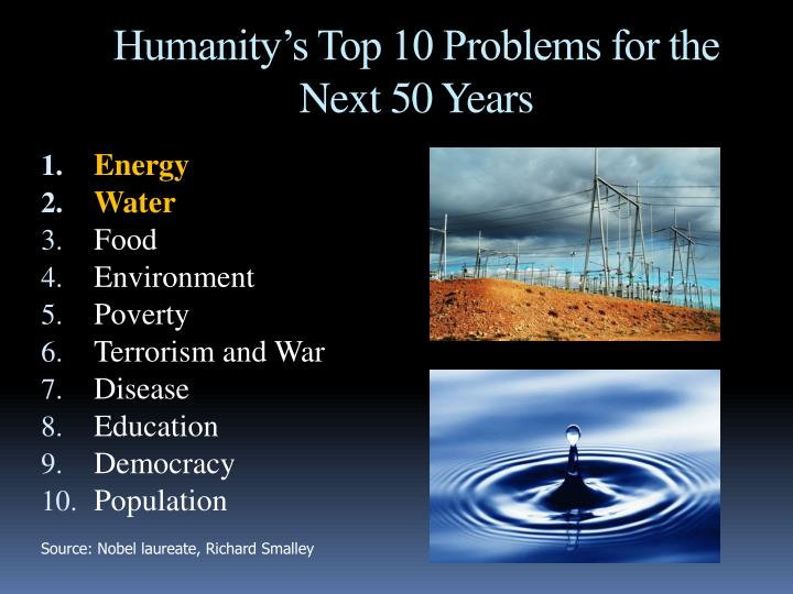 Humanity's Top 10 Problems for the Next 50 Years