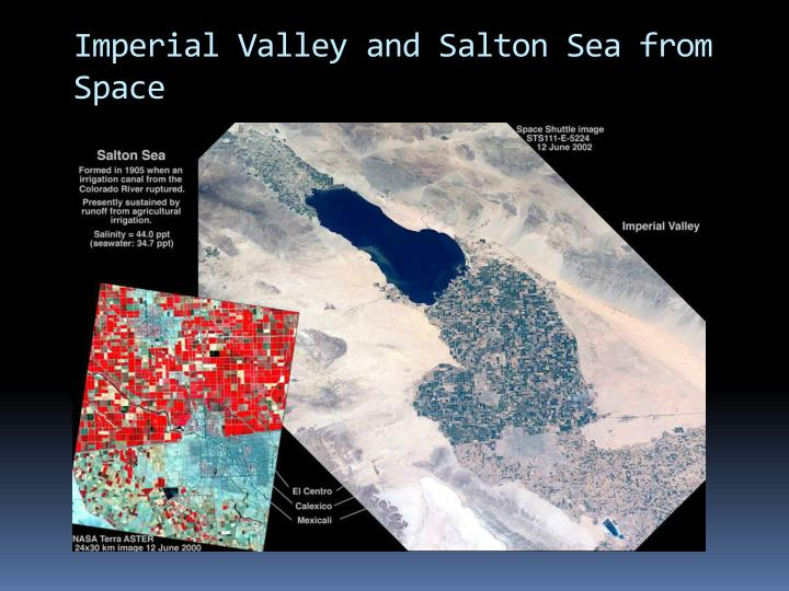 Imperial Valley and Salton Sea from Space