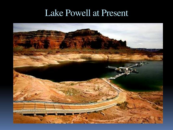 Lake Powell at Present