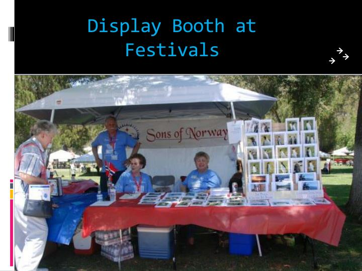 Display Booth at Festivals