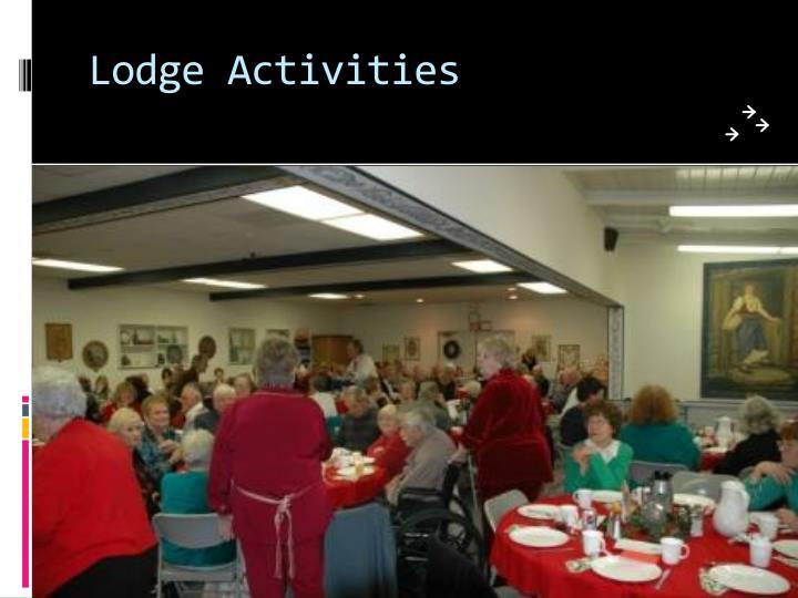 Lodge Activities