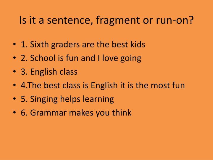 Is it a sentence,