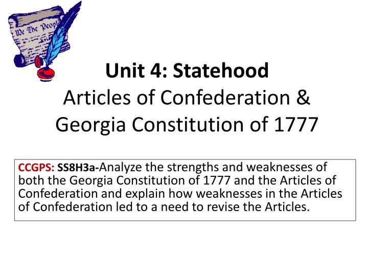essay for articles of confederation The articles of confederation and the us constitution dbq essay directions: write a well-organized essay that includes an introduction, several paragraphs, and a conclusion.