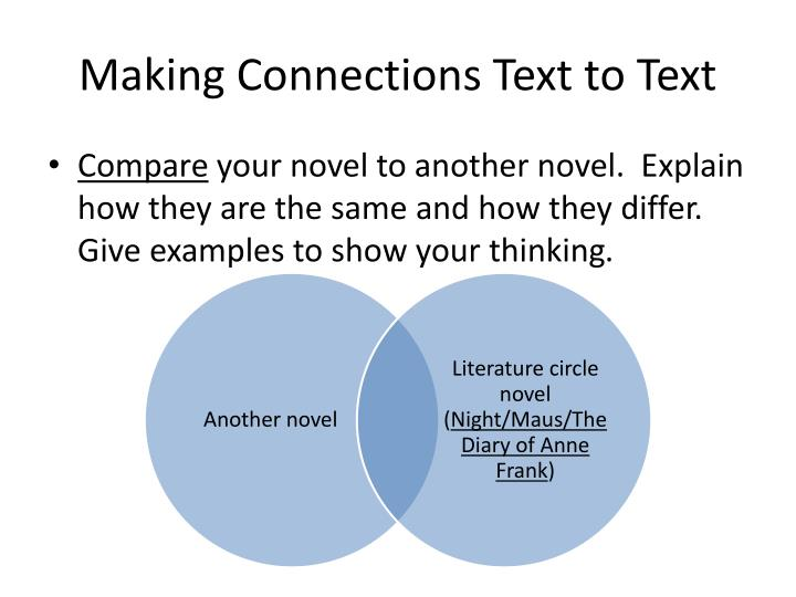 Making Connections Text to Text