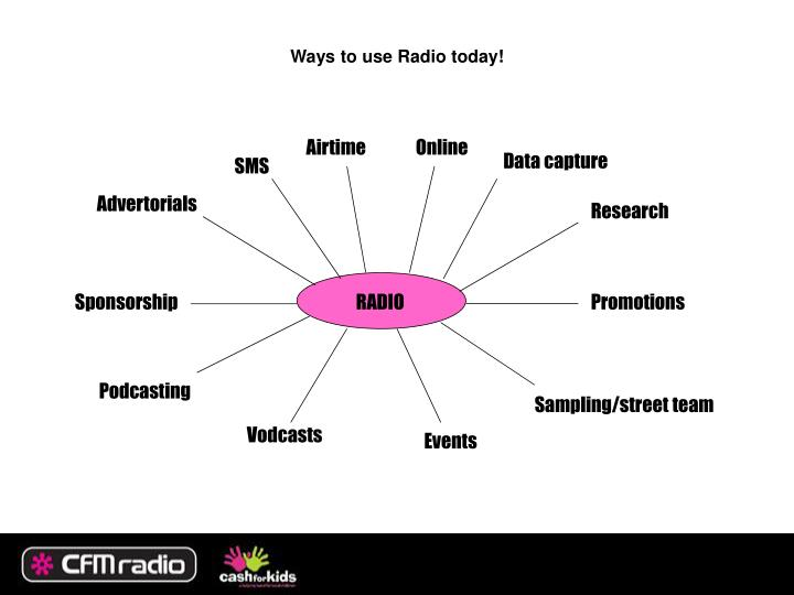 Ways to use Radio today!