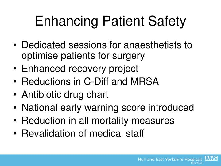 Enhancing Patient Safety