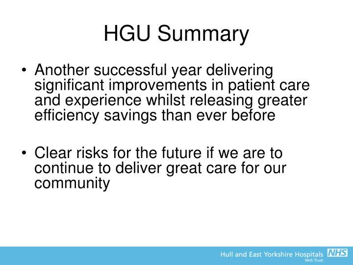 HGU Summary